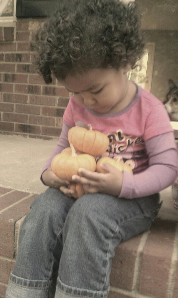 Abby and her pumpkins
