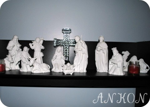 Home Interiors White Nativity Scene