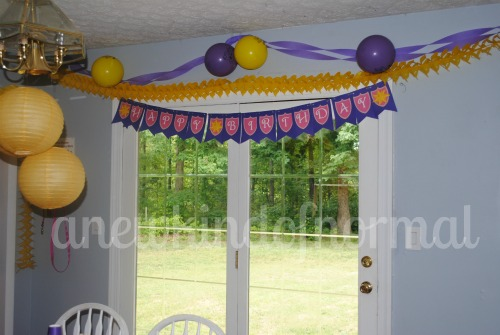 Abby's Tangled Birthday Party Decor
